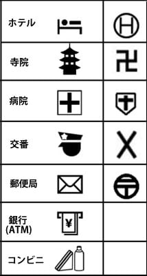 Watashi to tokyo new standard symbols for foreign language maps here is another map symbol can you guess what it is the right side is current symbol and the left side is new for foreign map from the top hotel publicscrutiny Choice Image