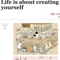 Life is about creating yourself(http://life-is-about.tumblr.com/post/113470901754/catsbeaversandducks-cute-illustrations-by-ms-cat)